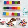 Arte hecho a mano DIY Almohadilla de Tinta a Base de Aceite de DIY Papel Scrapbooking Sellos De Goma de Madera de la Tela 6 Colores almohadilla de Tinta Pintura de Dedos