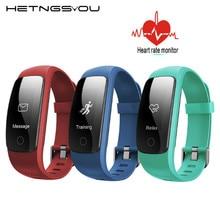 ID107 плюс HR Bluetooth Smart спортивный браслет Фитнес трекер сердечного ритма Мониторы GPS трекер Смарт часы браслет