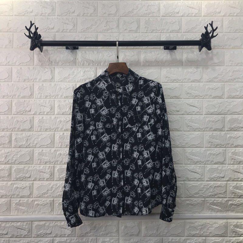 Style De 2019 Blouses Luxe Vêtements Design Partie Marque Femmes amp; b Chemises Mode Européenne We1228 Piste A w0qfBOw