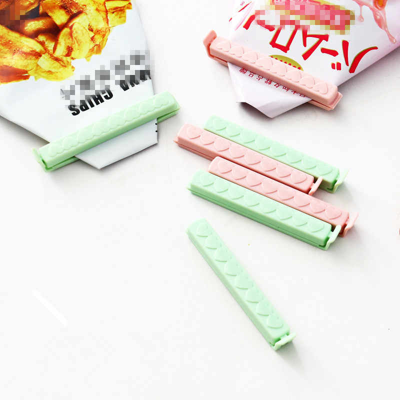 5pcs/lot Food Snack Clip Seal Storage Sealing Seal Bag Clips Sealer Clamp Food Bag Clips Kitchen Tool Home Food Close