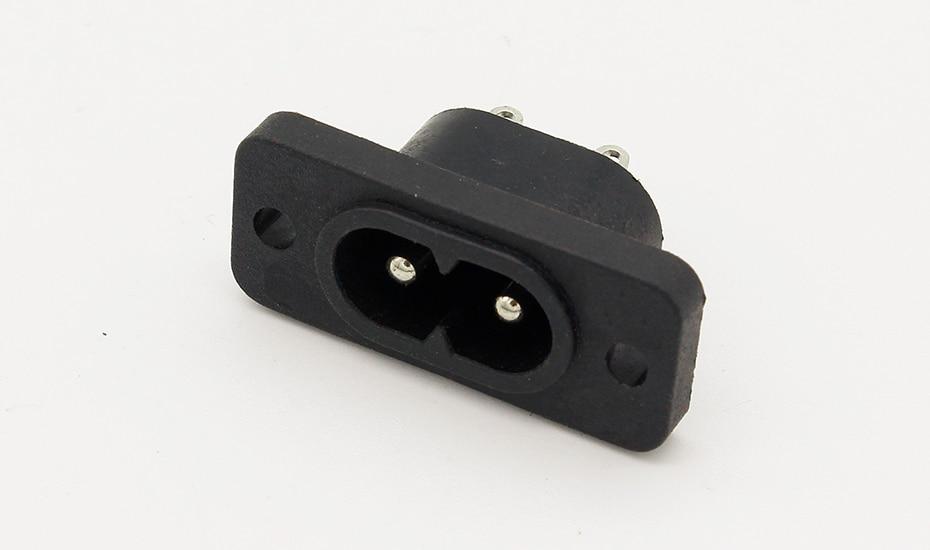 HTB1DGUTAlmWBuNkSndVq6AsApXas - New Hot Selling AC250V 2.5A 5pcs 2Pin IEC 320 C8 Screw Mount Inlet Plug Socket