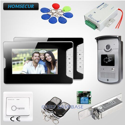 HOMSECUR 7 Hands-free Video Door Phone Intercom System with Mute Mode for Home Security