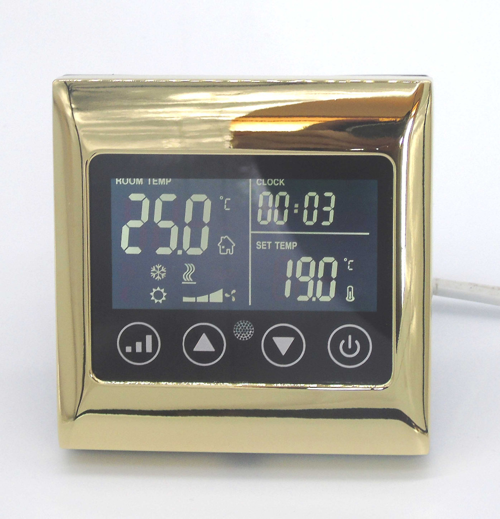 4 pipes Touch Screen LCD Display Timing setting Thermostat For Hot and cold separate control t050sqh651mt lcd display screens touch screen