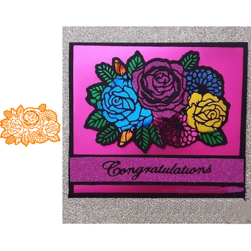 Rose Lace Cutting Dies Metal Stencil DIY Scrapbooking Album Paper Card Flower