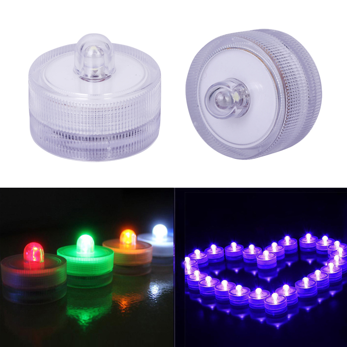Candles 10pcs Mini Tea Light Submersible Waterproof Led Candle Light Wedding Party Holiday Christmas Indoor Decoration Multi Color Distinctive For Its Traditional Properties