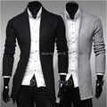 Frete grátis Novo simples casaco cardigan camisola Dos Homens Magro V-neck regular camisola 2014 outono/inverno dos homens blusas tamanho M-2XL