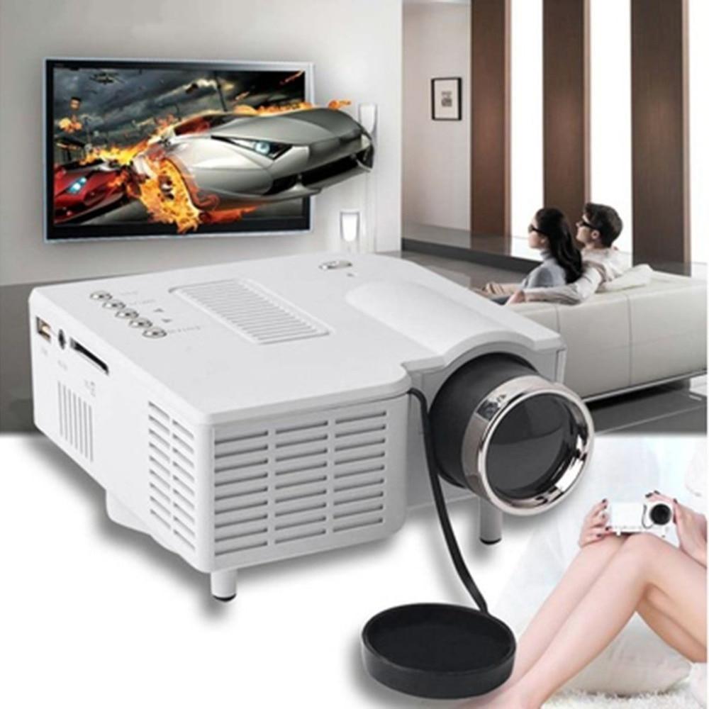 лучшая цена UC28+ Mini Portable 1080P HD Projector Home Cinema Theater Upgraded HDMI Interface Home Entertainment Device Multimedia Player