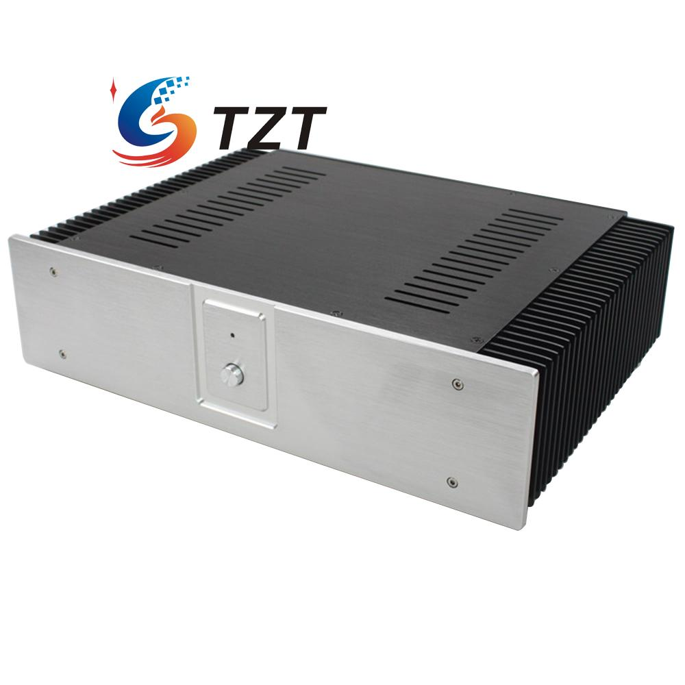 WA60 Aluminum Amplifier Chassis Shell Enclosure Case Box 312x432x110mm wa19 aluminum chassis pre amplifier chassis enclosure box 313 425 90mm