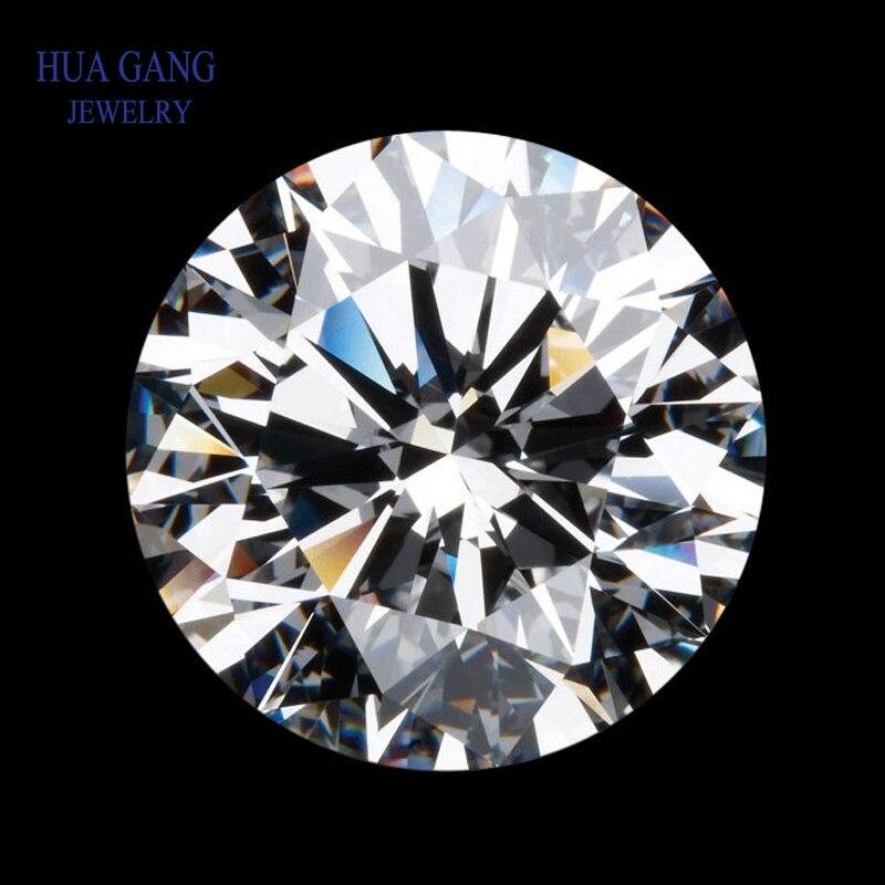 Round Brilliant Cut 2.0ct Carat 8.0mm D Color Moissanite Loose Stone VVS1 Excellent Cut Grade Test Positive Lab Diamond