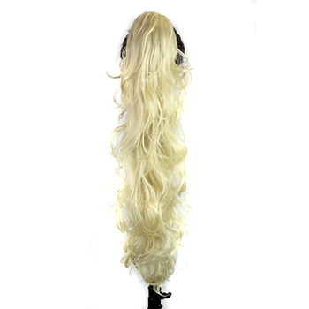 Luxury for Braiding 30inch 210g  Long Wavy High Temperature Fiber Synthetic Hair Pieces Claw Clip Ponytail Extensions for Women 4