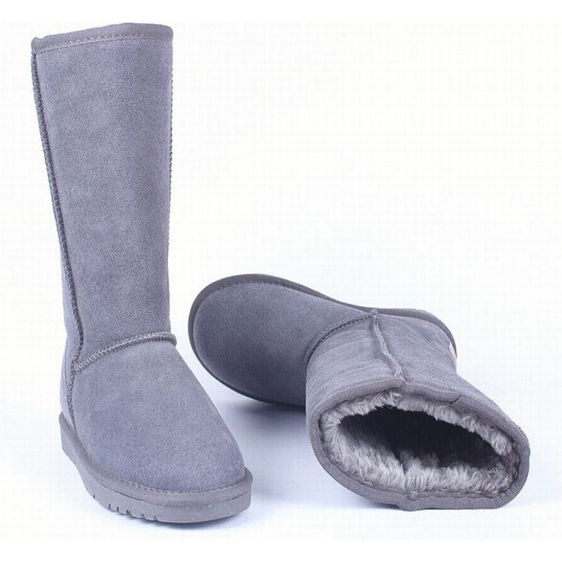 ФОТО big size 35-45 women snow boots mid calf plush warm cotton shoes winter warm woman flats shoes genuine leather suede ladies boot