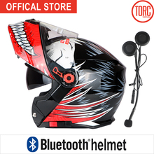 Bluetooth Motorcycle helmet FLIP UP motorbike motorcross Connect Phone Support call capacete cascos para moto T271