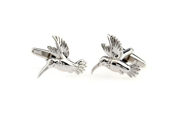 Kingfisher Image Rhodium Plated Cufflinks in Gift box
