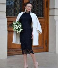 Neue Mode Schwarz Spitze Abendkleid 2015 Langen Ärmeln Sexy Backless Partei-kleid Formale Mutter der braut Kleid Heißer Verkauf