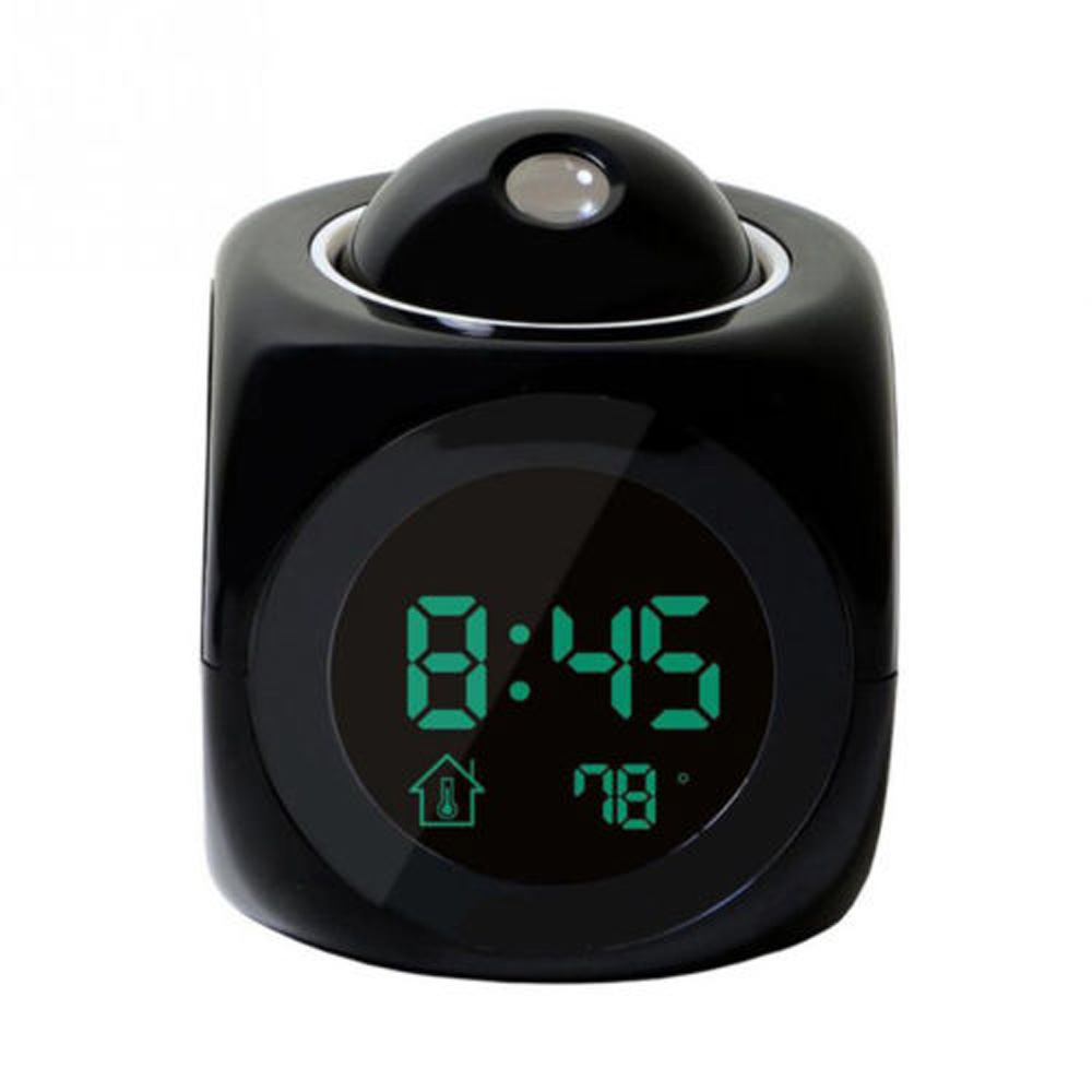 Digital Projection Alarm Clock with LCD Display Voice Talking LED Projector Digital Table Clocks Snooze Function Cables