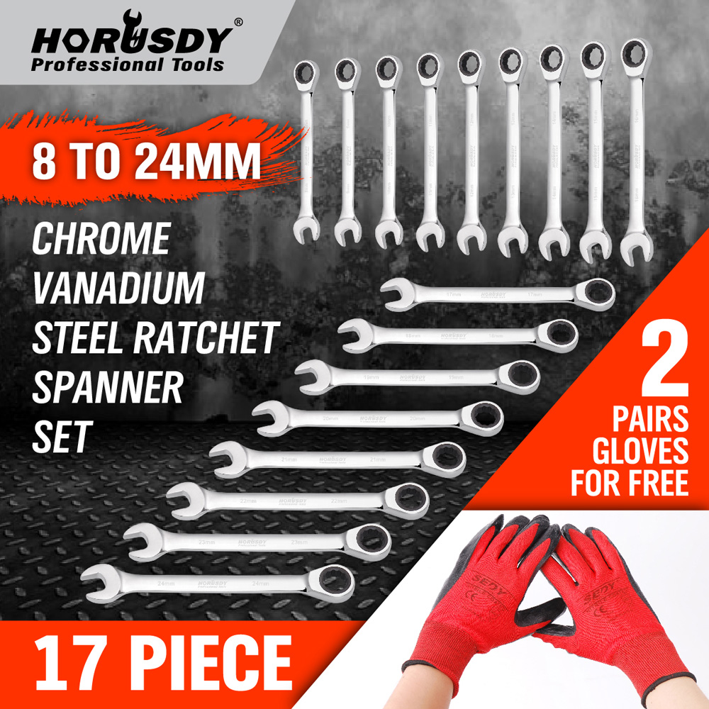 17pc Torque wrench Tool for car repair torque wrench hand tool a set of keys Key ratchet Wrenches with ratchet Set of keys for 7pcs8 10 12 13 14 17 19mmfixed head the key ratchet combination wrench set auto repair hand tool a set of keys ad2012