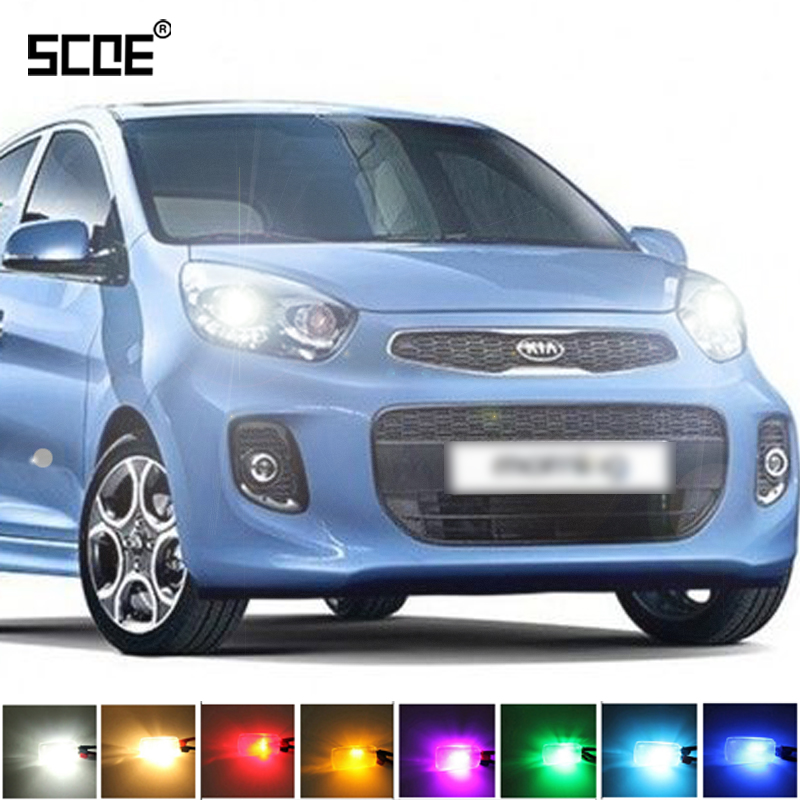 где купить  For Kia Picanto SCOE 2015 NEW High Quality Hot Sale 2X 12SMD LED Front Parking Light  Front Side Marker Light Source Car Styling  по лучшей цене