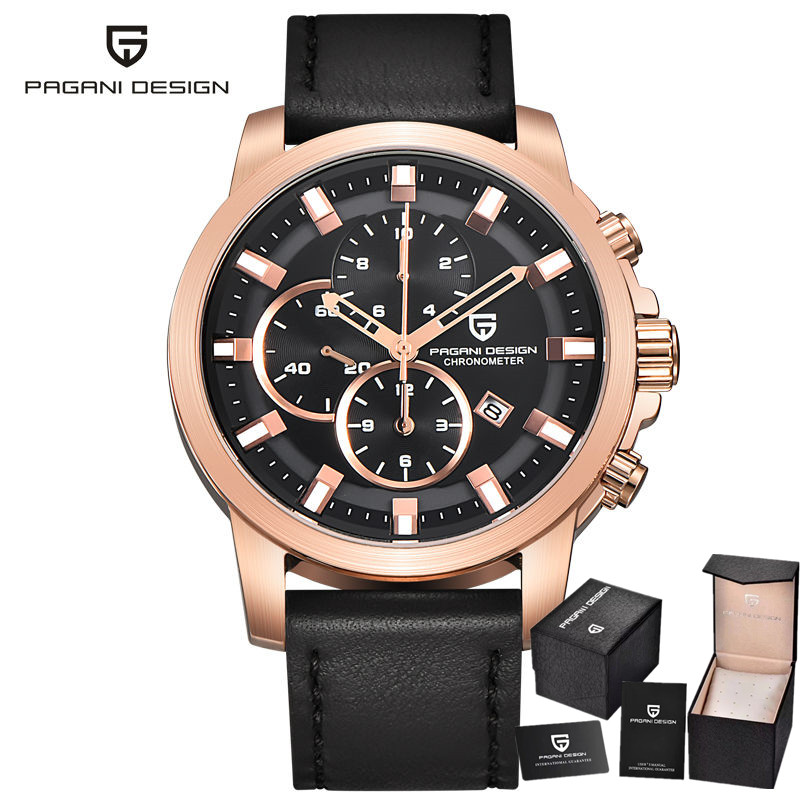 PAGANI DESIGN font b Men s b font Watches Military font b Quartz b font Sport