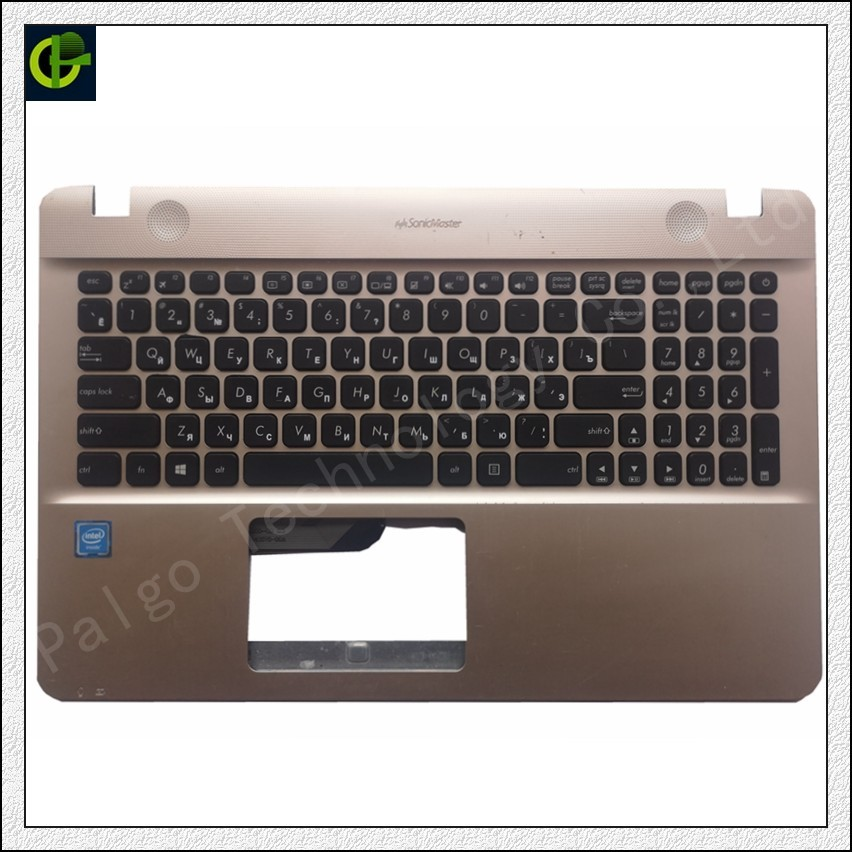 New Russian Keyboard With Palmrest Cover For Asus X541 X541U X541UA X541UV X541S X541SA X541UJ R541U R541 X541L Case RU