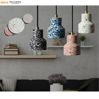 Nordic Art Chandelier Personality Decoration Cafe Restaurant Clothing Store Cloakroom Living Room Bar Aisle Cement Terrazzo Lamp