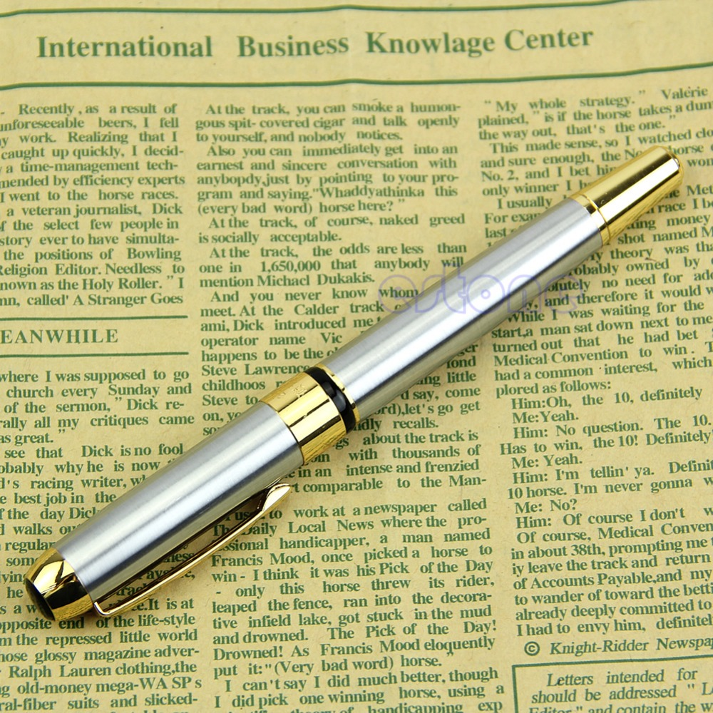 Chic Jinhao 250 Fountain Pen Golden And Silver M Nib NEW oble Golden And Silver M Nib Fountain Pen Nice Gift