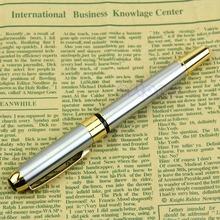 Chic Jinhao 250 Fountain Pen Golden And Silver M Nib NEW oble Golden And Silver M Nib Fountain Pen Nice Gift(China)