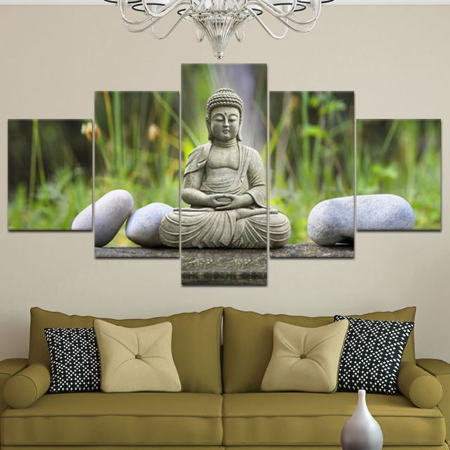 Figure Buddha Printed Painting Canvas Modern Home Decoration For Living Room  Bedroom Large Wall Art 5