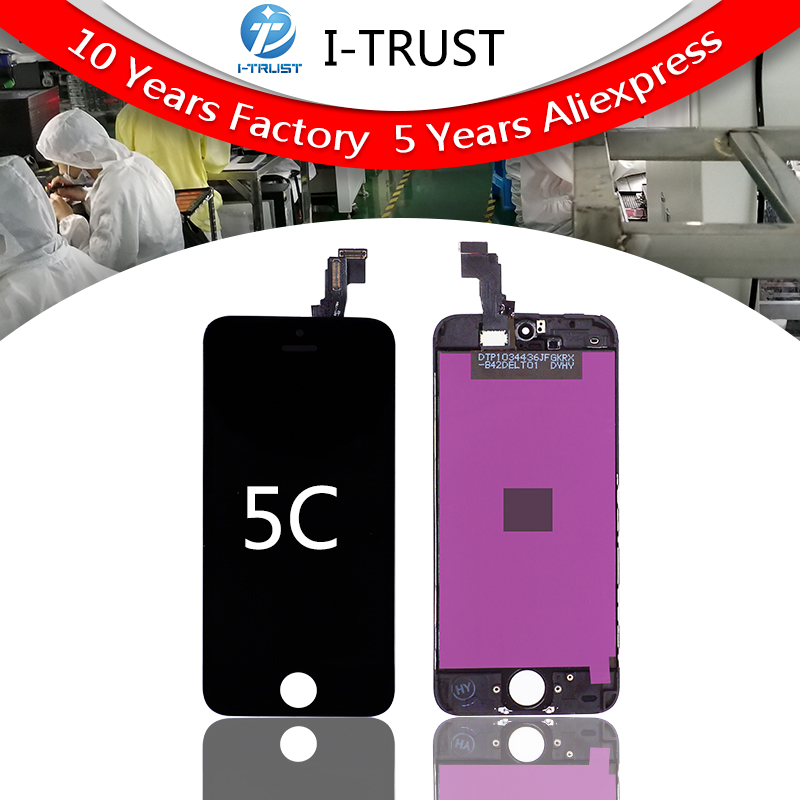 Grade A quality Glass Touch Screen Digitizer LCD Assembly Replacement For iPhone 5c Free DHL 10