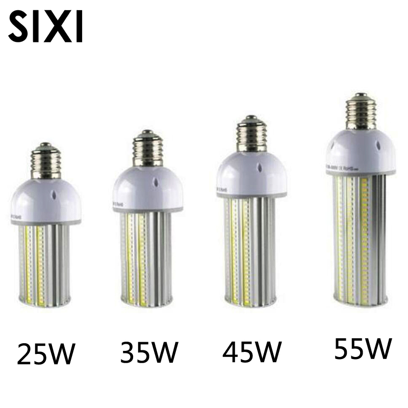 Led ampoule de rue AC85-265V 25 W 35 W 45 W 55 W E27/E40 led rue ampoule lampe épis de maïs led led parking lot lumière