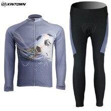 XINTOWN Cycling Jersey Fleece Material Football Winter Cycling Bike mtb Bicycle Clothing Long Sleeve Jersey sportswear