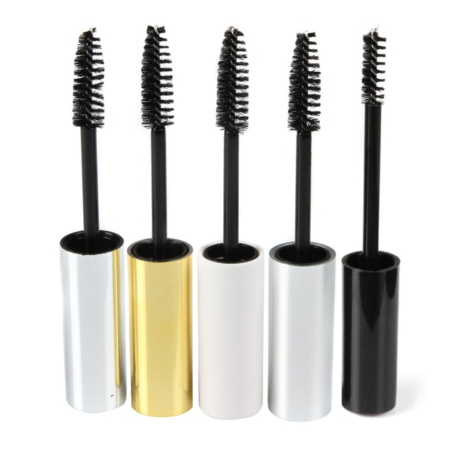 90fc421d302 5pcs Funnel or Pop Empty Black/White/Gold/Silver Eyelash Tube Mascara Cream