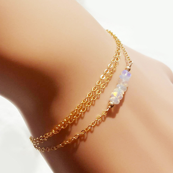 Tendy Boho Jewelry Delicate Jelly Color Beads Bracelet Handmade 3 Layers Handchain for Women image