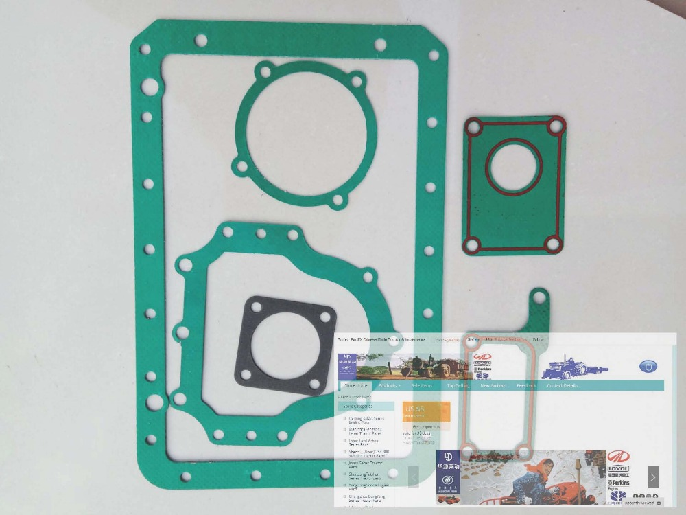 Changchai ZN390T engine parts, the custom-made gasket kit for the engine model, please check the engine nameplate with us
