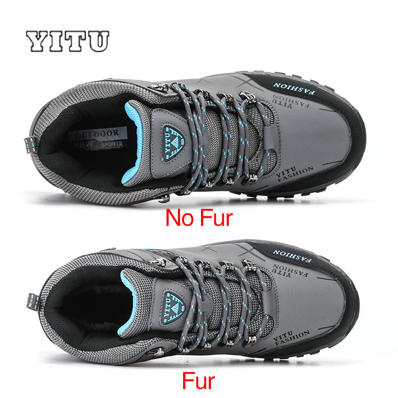 Image 2 - Plus Size 39 45 46 47 Brand Hiking Shoes Men Spring Hiking Boots Mountain Climbing Shoes Outdoor Sport Shoes Trekking Sneakers-in Hiking Shoes from Sports & Entertainment