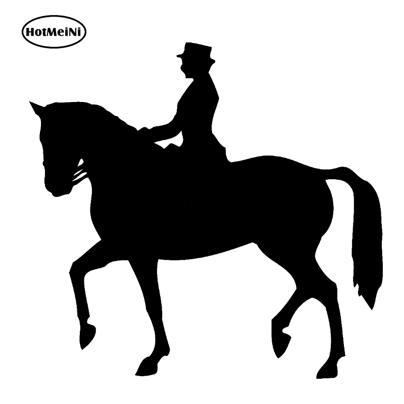 Horse Riding Sticker For Car Rear Windshield Truck SUV Bumper Auto Door Laptop Kayak Canoe Art Wall Die Cut Vinyl Decal 8 Colors reflective material heart paw vinyl decal car truck sticker laptop boat truck auto bumper wall graphic sticker decoration