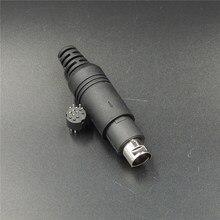 1 pcs 9 pinos Macho para Mini Din Conector de solda