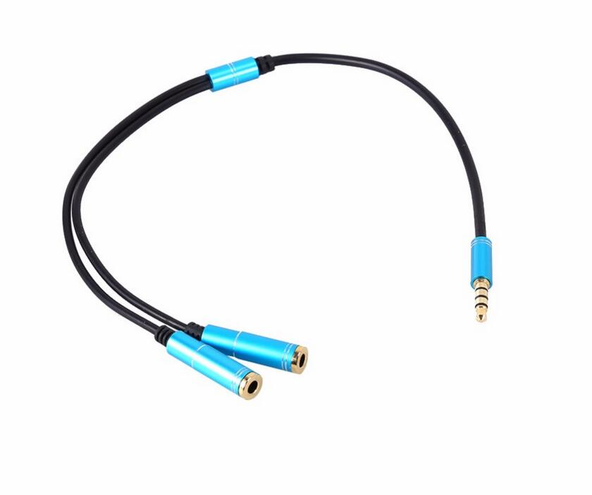 Audio Cables 3.5mm Stereo Audio 1 Male to 2 Female