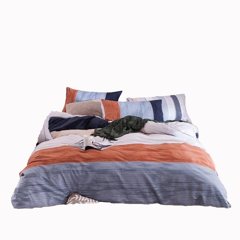 Stripe bedding set 100  cotton duvet cover bedding pillowcase soft bedspread  men bed linen. Online Get Cheap Mens Bedspreads  Aliexpress com   Alibaba Group