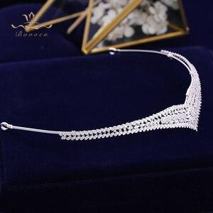 Image 5 - Koreański Brides musujące złote korony ślubne tiary pełna cyrkonia Bridal Hairbands kryształowe akcesoria do włosów biżuteria ślubna do włosów