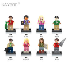The Big Bang Theory TBBT Sheldon Leonard Penny Howard Rajesh Amy Bernadette Leslie Building Blocks Toys juguetesX0125(China)