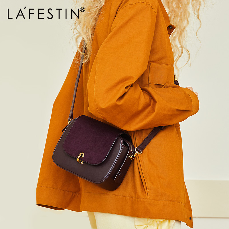 LA FESTIN 2018 New Fashion Messenger Bag Women Saddle Bag Small Shoulder Bags Innovative C type