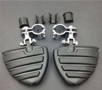 Highway Wing Front Foot pegs Clamps For Harl Honda Shadow 750 ACE VT1100 VTX Goldwing1800 SUZUK Chopper Motorcycle