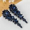 Relogio masculino Moda Max Brincos Grandes Mulheres Joias azul Parafuso Prisioneiro de Cristal Austríaco Brincos Pendientes Aretes bijoux Brinco