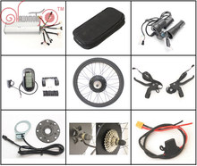 "Free Tax Free Shipping 36V 48V 1200W-1500W 28"" Rear Wheel eBike Conversion Kits with LCD Controller to European Union Country"