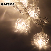 5M 40 Bulbs Heart Battery LED Garland Christmas String Lights Decoration Fairy Lights For Holiday Party Wedding Bedroom Decor
