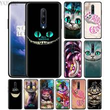 Cheshire Cat alice in wonderland Phone Case for Oneplus 7 7Pro 6 6T Oneplus 7 Pro 6T Black Silicone Soft Case Cover