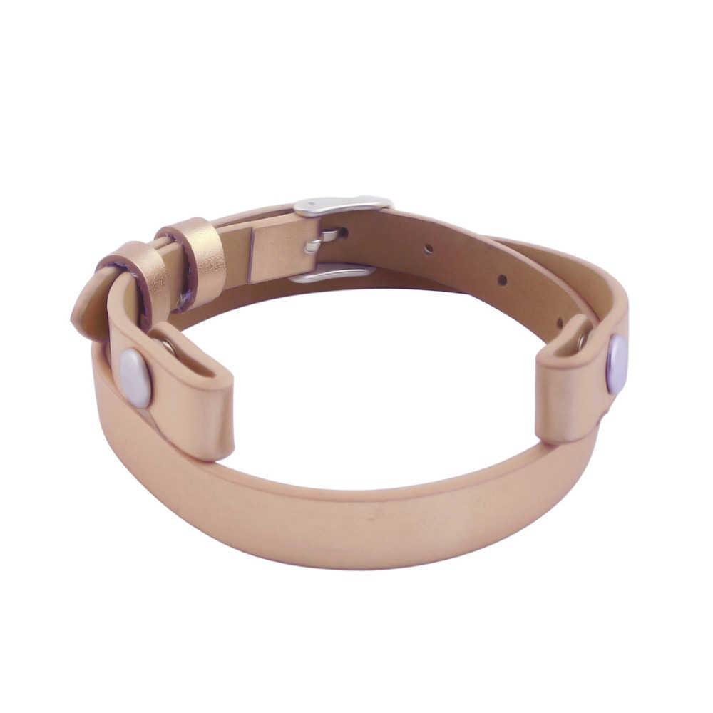 Retro Charm bransoletka różowe złoto bransoletka 316L skórzana bransoletka ze stali nierdzewnej aromaterapia OLEJEK ETERYCZNY dyfuzor medalion