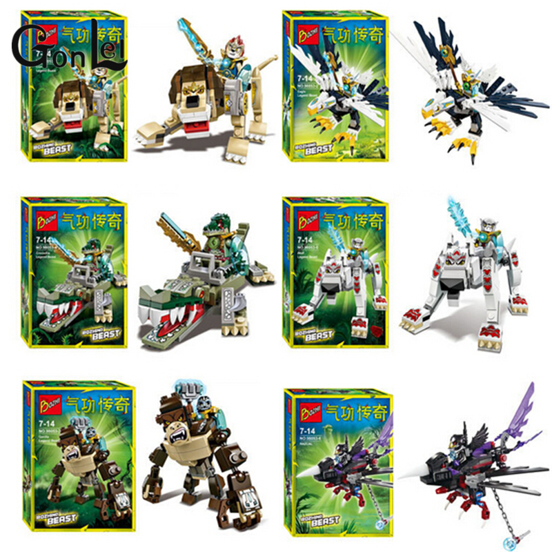 GonLeI Qigong legendary animal editon 2 CHIMAED Super Heroes Building Blocks Bricks For Children Gift Kids Toys Lepin hot sale qigong legend animal figures wolf lion eagle crocodile lepine building bricks blocks sets toy for children gift