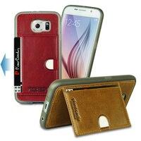 Original Pierre Cardin Genuine Leather Case For Samsung Galaxy S6 S6 Edge Luxury Soft TPU Silicone