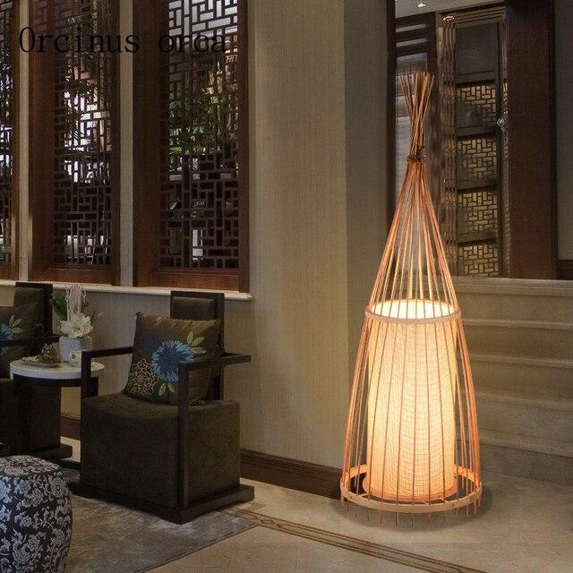 Die Neue Chinesische Bamboo Stehleuchte Wohnzimmer Tee Club Japanischen  Südost Bambus Dekorative Tischleuchte Kostenloser Versand